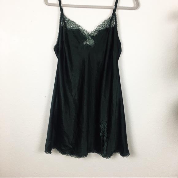 6c6530895b169 Victoria's Secret forest green slip dress